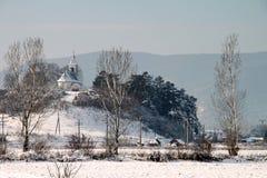 Horizontal de l'hiver Photographie stock