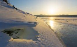 Horizontal de l'hiver images stock