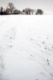 Horizontal de l'hiver avec la maison isolée. Photographie stock