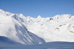 Horizontal de l'hiver dans haut Val Martello Images libres de droits