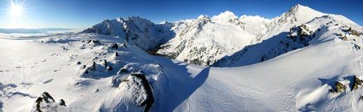 Horizontal de l'hiver de montagne photographie stock libre de droits