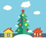 Horizontal de l'hiver de Noël illustration de vecteur