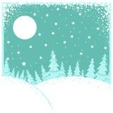 Horizontal de l'hiver de Noël Illustration de vecteur illustration de vecteur