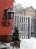 Horizontal de l'hiver de ville Photo libre de droits
