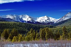 Horizontal de l'hiver du Colorado Photo stock
