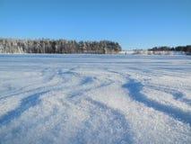 Horizontal de l'hiver en Carélie Photo libre de droits