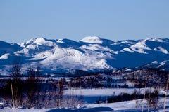 Horizontal de l'hiver en Norvège Photos libres de droits