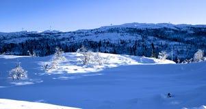 Horizontal de l'hiver en Norvège Images stock
