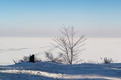 Horizontal de l'hiver de Minimalistic images stock