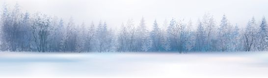 Horizontal de l'hiver de vecteur illustration libre de droits