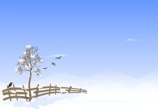 Horizontal de l'hiver, vecteur de cdr Photos libres de droits