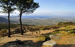 Horizontal de la Catalogne Photographie stock
