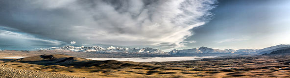 Horizontal de la Mongolie Photos libres de droits