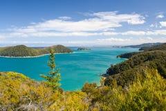 Horizontal de la Nouvelle Zélande. Stationnement national d'Abel Tasman Photos stock