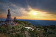 Horizontal de la pagoda deux Photographie stock libre de droits