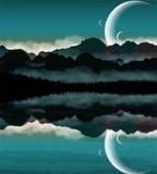 Horizontal de la science-fiction Photos libres de droits
