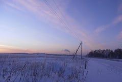 Horizontal de la soirée de l'hiver Image libre de droits