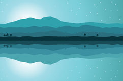 Horizontal de lac illustration libre de droits