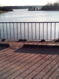 Horizontal de lac Photos stock