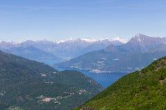 Horizontal de lac Como Images stock