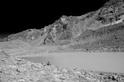Horizontal de lac dans l'infrarouge Photographie stock libre de droits