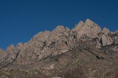 Horizontal de las montañas del órgano abandone el monumento nacional de los picos, en New México Fotos de archivo