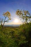 Horizontal de lever de soleil Photographie stock