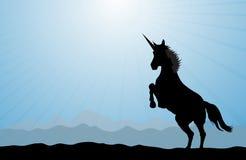 Horizontal de licorne Image libre de droits