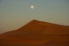 Horizontal de lune bleue Image libre de droits