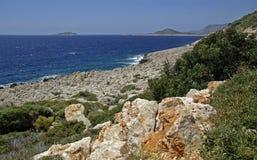 Horizontal de mer Égée Photographie stock libre de droits