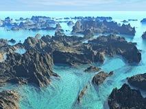 Horizontal de mer Photographie stock libre de droits