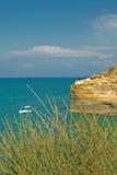 Horizontal de mer avec un bateau Image libre de droits