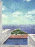 Horizontal de mer - pétrole illustration de vecteur