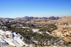 Horizontal de Milou à PETRA, Jordanie Image stock