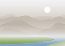 Horizontal de montagne illustration stock