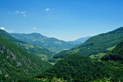 Horizontal de montagne au Monténégro Images libres de droits