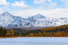 Horizontal de montagne Automne Photographie stock