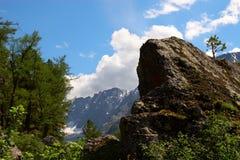 Horizontal de montagne d'Altay. Photographie stock