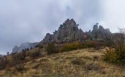 Horizontal de montagne d'automne Image stock