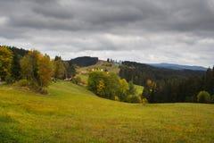 Horizontal de montagne d'automne Images stock