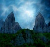 Horizontal de montagne d'imagination image stock