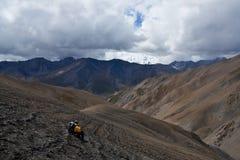 Horizontal de montagne dans la région de Dolpo, Népal occidental Images libres de droits