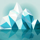 Horizontal de montagne de l'hiver Photos libres de droits