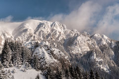 Horizontal de montagne de l'hiver Photos stock