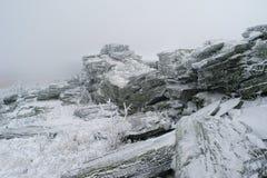 Horizontal de montagne de l'hiver Image stock
