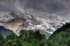 Horizontal de montagne de la Suisse Photos libres de droits