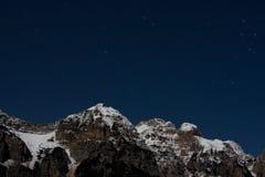 Horizontal de montagne de nuit Photographie stock