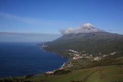 Horizontal de montagne de Pico Photos libres de droits