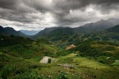 Horizontal de montagne de Sapa Photographie stock libre de droits