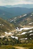 Horizontal de montagne de source Photos stock